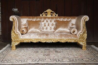 """Awesome 80"""" sofa baroque style exclusive italian fabric from a french castle"""