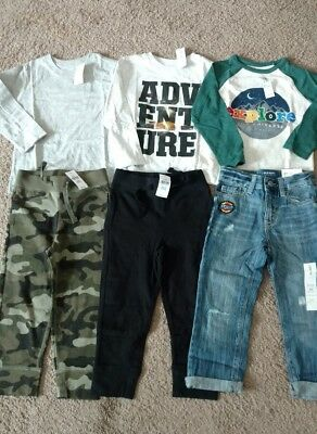 Boys Baby Gap and Old Navy shirts and pants lot size 3T 3 years NWT'S