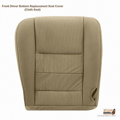 2008 TO 2010 Ford F250 F350 F450 XLT Driver Bottom Cloth Seat Cover CAMEL (Tan)