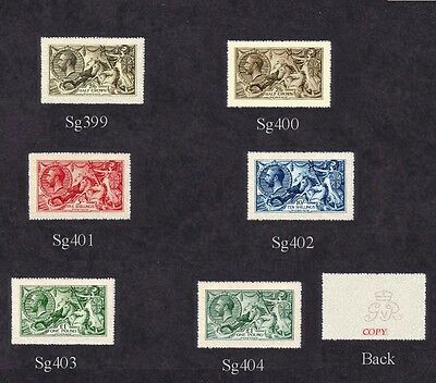 King George V Seahorses 1913 Set of 6 (forgeries)