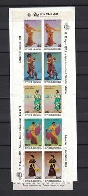 Indonesia Indonesien 1994 booklet Minr 1545-49 ** / mnh Tanz Art costumes danc