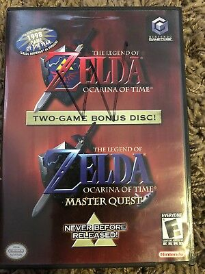The Legend Of Zelda Ocarina Of Time Nintendo Gamecube Master Quest Bonus Disc