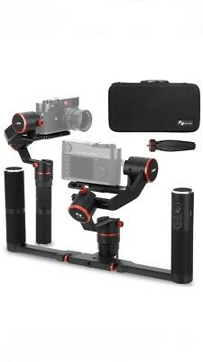 Feiyu A1000 Dual Handheld 3-Axi Gimbal Stabilizer Foldable Grip For GoPro Camera