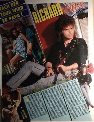 1 GERMAN CLIPPING RICHARD MARX N  SHIRTLESS SINGER ROCK POP BOY BAND BOYS  GROUP