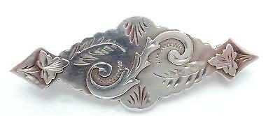 Antique Victorian English England Sterling Silver 1896 Pin Signed 24189