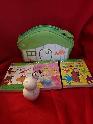 Leapfrog Tag Jr Reader Lot of 3 Books, Reader and Carrying Case
