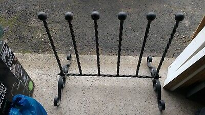 Boot Stand Barley Twist Wrought Iron Steel  Vintage Wellington
