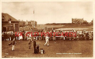 Scotland, PRESTWICK Golf Course, Golfing Competition, Vintage Real Photo