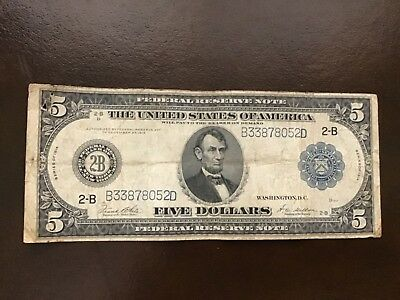 $5 Bank Note from 1914
