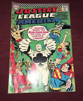Justice League Of America #43 Dc Silver Age Comic First Royal Flush Gang 1966