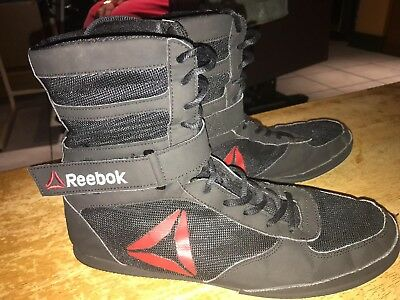 Reebok boxing boots Black & Red Mens Size 10UK 11US