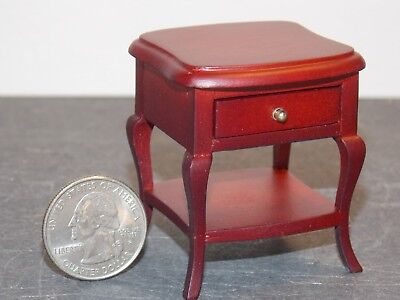 Dollhouse Miniature End Table w drawer Mahogany 1:12 scale Y45 Dollys Gallery