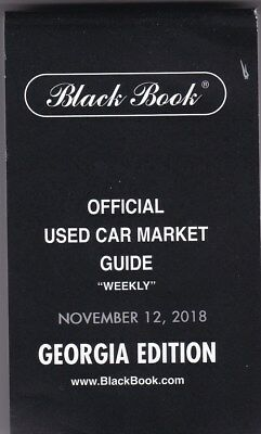BLACK BOOK USED CAR AUTO MARKET PRICE GUIDE BUY IT NOW November 2018