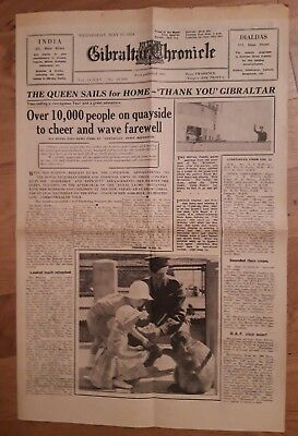 Gibraltar Chronicle Newspapers (2) 11th May 1954 and 12th May 1954