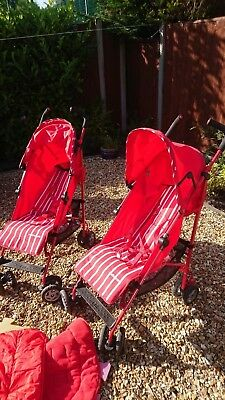 Red Mothercare Nanu Stroller, hardly used