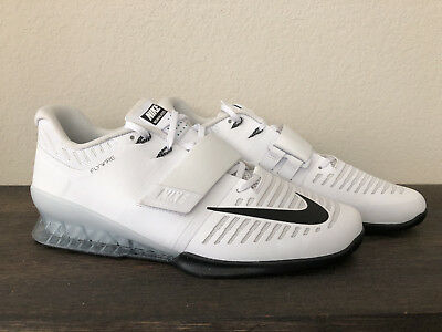 cheap for discount 05d61 7d26e NIKE ROMALEOS 3 WEIGHTLIFTING SHOES WHITE-BLACK-VOLT 852933-100 Sz 13