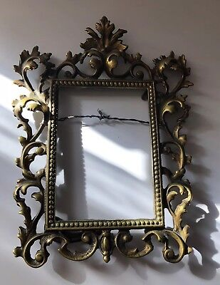 Vintage Rococo Brass Ornate Photo Picture Frame 5 x 7