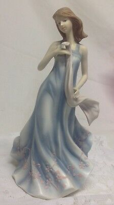 "Home Interior Homco""Stephanie""Porcelain Lady Figurine"""