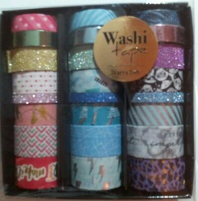 Mega 24er Set Washi Tape in Box - Scrapbooking. 72m gesammt