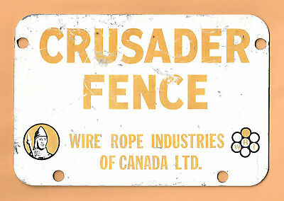 Crusader Fence 3 Colors Metal English Advertising Sign Canadian