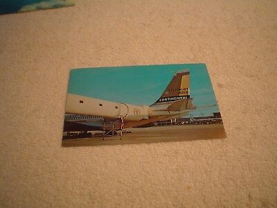 Continental Airlines Boeing 720-B  Postcard, Ill Fated Ord Chicago Rising Jetway