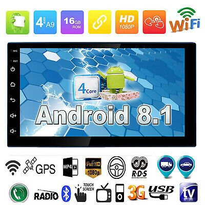 7In 2Din Quad-Core Android8.1 Car Stereo Radio MP5 Player WiFi GPS Navi HeadUnit