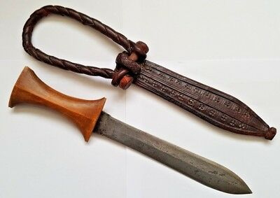 Antique North African Tuareg Sudanese Arm Dagger and Snakeskin Sheath
