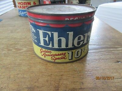 Old Antique Farm House Find Vintage ehlers Coffee Advertising Tin Can
