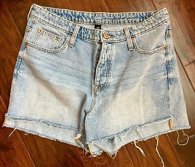 2399392f020 Gap Women s Vintage Denim Cutoff Jean Shorts Size 8 29 Button Fly 5 Pocket