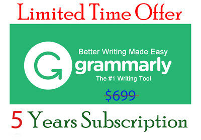 Grammarly Original Premium Account ⭐5 Years Subscription⭐ 🌟Limited Offer🌟