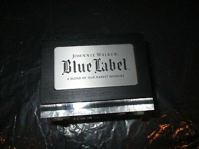 Johnnie Walker Blue Label Wood Wooden Stand Display Holder Rare