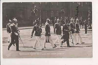 Vintage Postcard Kaiser Wilhelm II, German Emperor King of Prussia & Sons