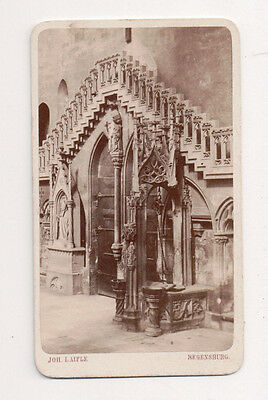 Vintage CDV Regensburg Cathedral ( St. Peters ) Laifle Photo regensburg Germany