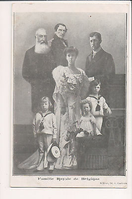 Vintage Postcard King Albert I & Queen Elisabeth & Royals Family of Belgium