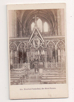 Vintage CDV Hereford Kathedrale The Rood Screen England f.Bedford Foto