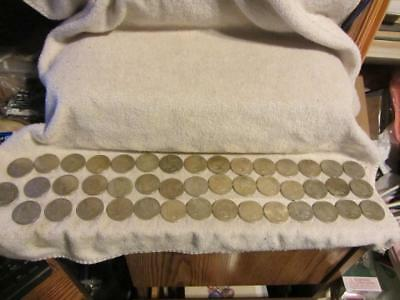 huge lot 44 1923 Peace silver dollar coins unsorted ungraded