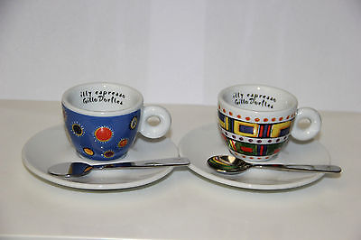 2 Cups Tazze Tazzine illy caffé Art Collection Gillo Dorfles coffee set box
