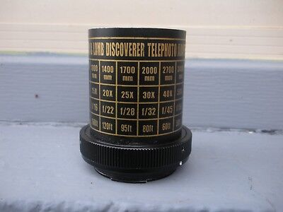 Bausch & Lomb Discoverer Telephoto Adapter with Minolta camera Mount