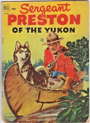 Sergeant Preston Of The Yukon (Four Color # 373) +  #7 (Dell) Painted Covers