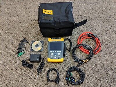 Fluke 435 3 Phase Power Quality PQ Energy Analyzer, Excellent, Accessories