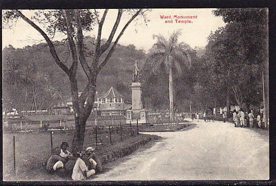 Ceylon Postcard Ward Monument & Temple #95