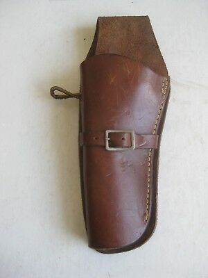 "Vtg SEARS ROBUCK & CO LH WESTERN RIG HOLSTER BROWN 10769 FOR SAA 4-4 3/4"" RARE!"
