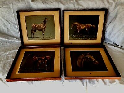 4 Framed C.W. Anderson Horse Prints Beautiful  2 are of Man O'War