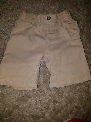 Baby Boys Mothercare Stone colour shorts...12-18 months