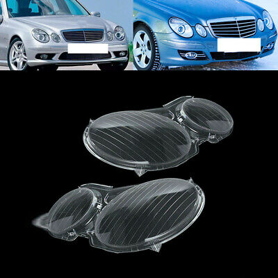 Headlight Lens Plastic Shell Cover For Mercedes Benz W211 2002-2008 E-class BE
