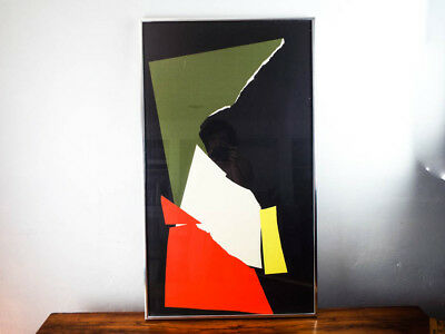 Vintage Original Lithograph Signed Abstract Art Jean Miotte Ltd Edition 11/260
