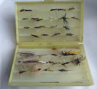 Vintage Lot of 35 Fishing Flies in Scientific Angler Plastic Case