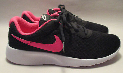 best website 6fba3 9b48a New Nike Tanjun Girls Youth 5Y Black,White   Pink Lace Up Sneakers