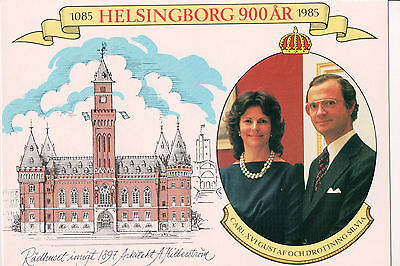 Postcard King Carl XVI Gustaf & Queen Silvia of Sweden