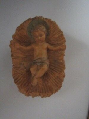 Vintage Anri? Wood Carved Baby Jesus For Nativity Made In Italy